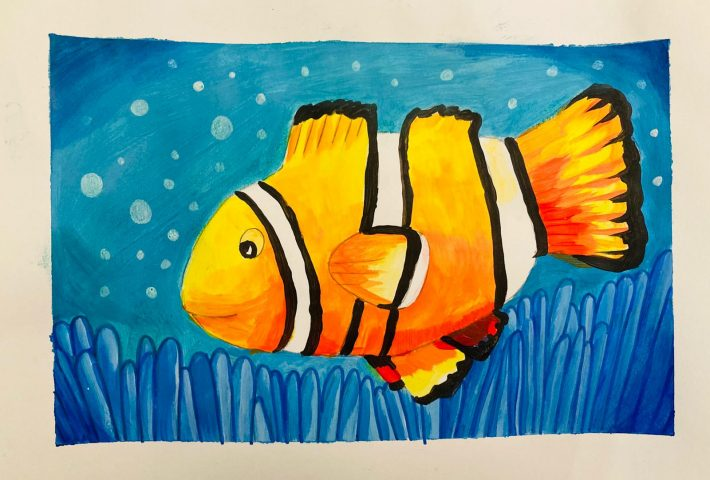 Clown Fish in Acrylic