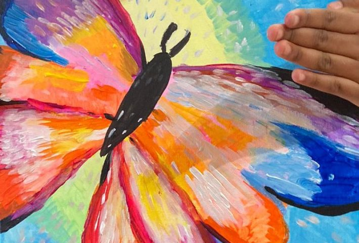 Learn to Paint a Colourful Butterfly