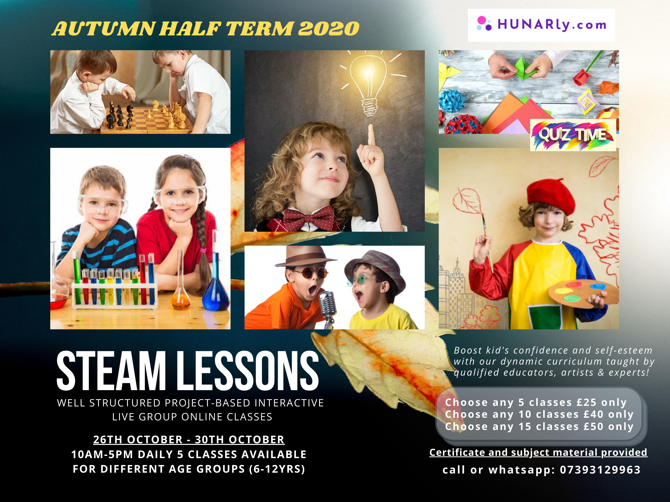 STEAM Lessons Half Term