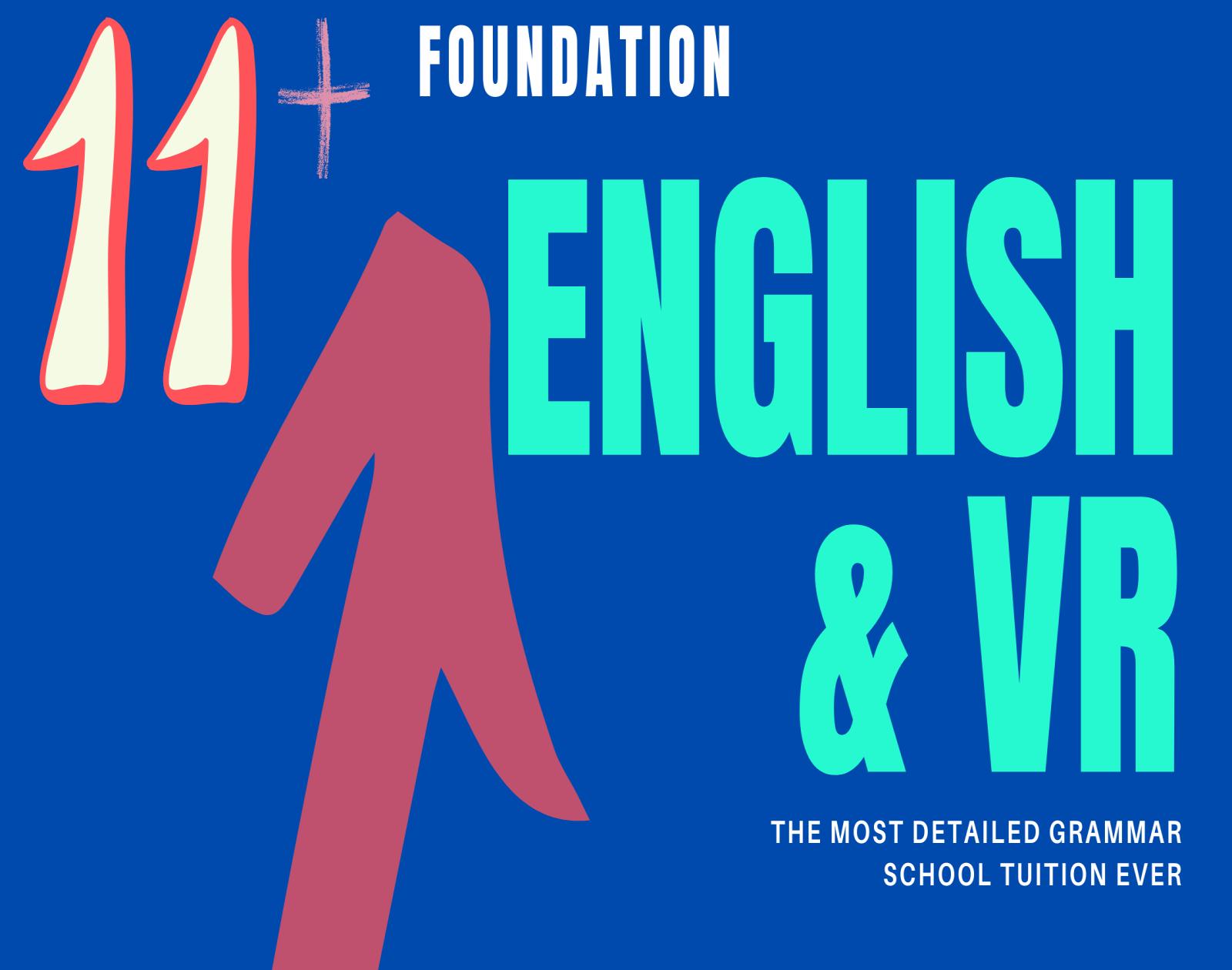 11+ Foundation – English & VR YR4