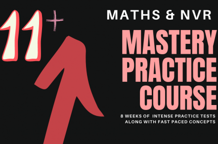 11+ Mastery Practice Course Maths and NVR for YR 5