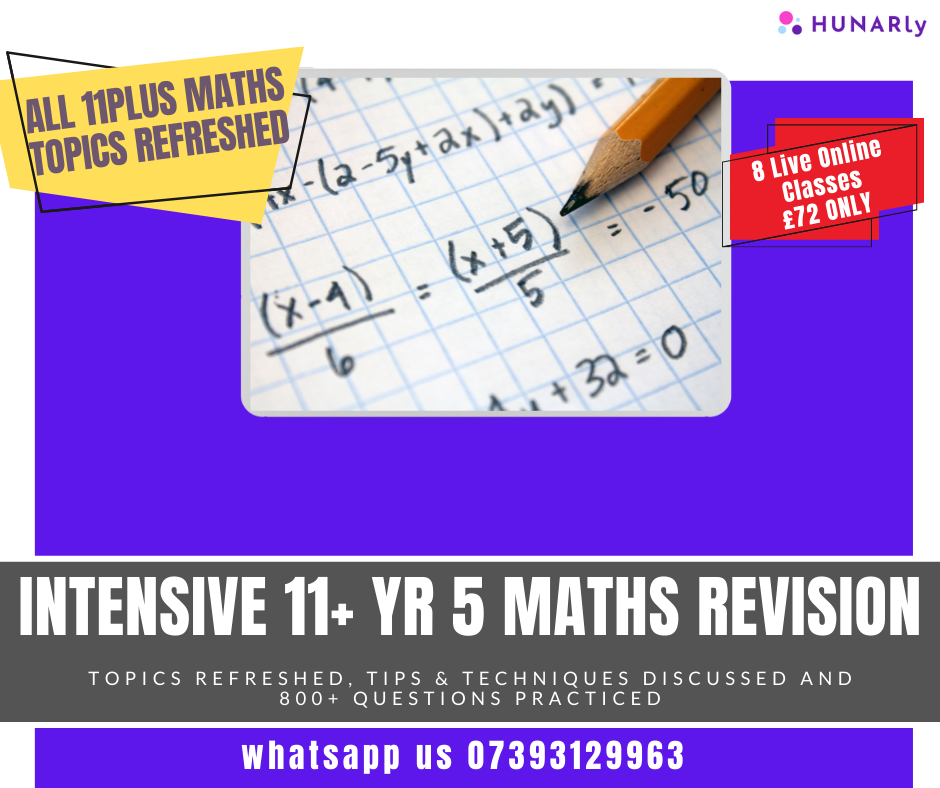 11+ Maths Mastery Course
