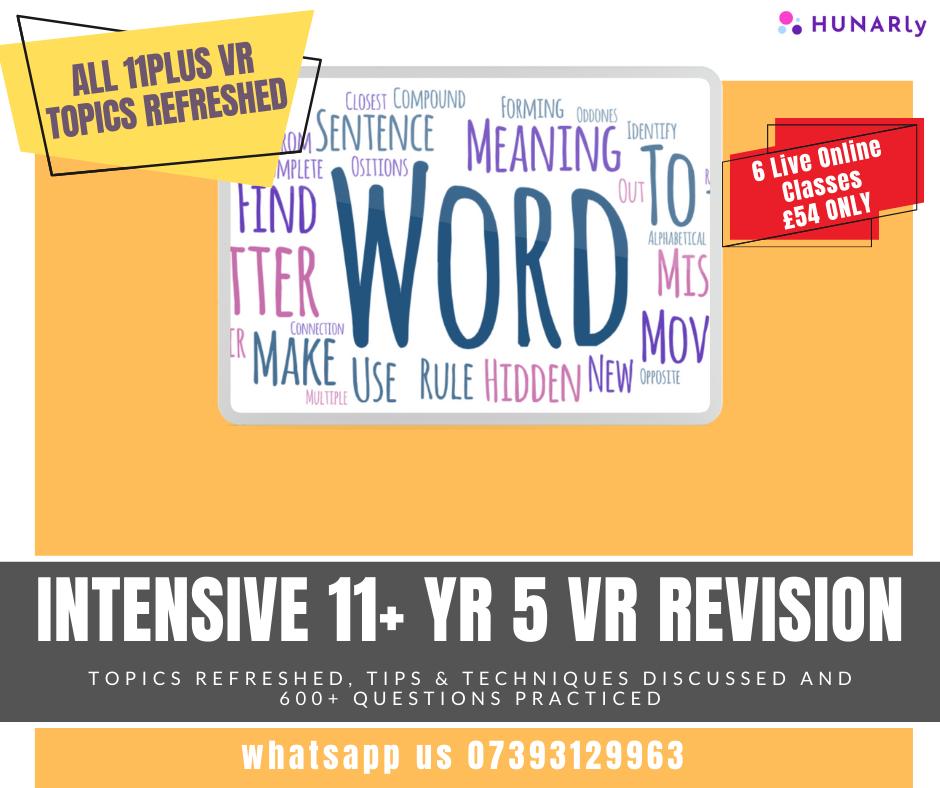 11+ Verbal Reasoning Mastery Course