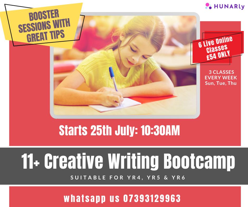 11+ Creative Writing Exam Focused Bootcamp