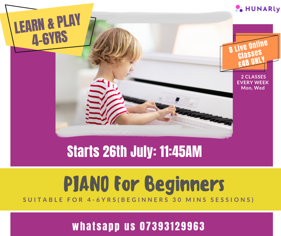 4-6yrs Piano For Beginners